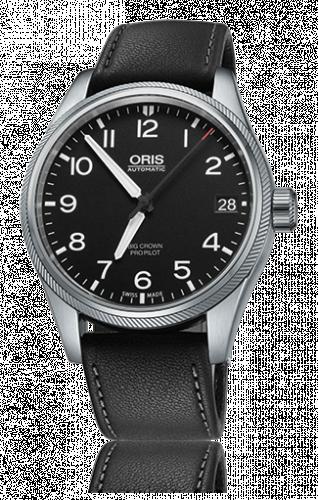 Oris 01 751 7697 4164-07 5 20 19FC : Big Crown ProPilot Date Black / Black Leather
