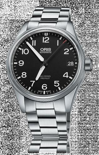 Oris 01 751 7697 4164-07 8 20 19 : Big Crown ProPilot Date Black / Stainless Steel