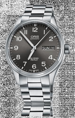 Oris 01 752 7698 4063-07 8 22 19 : Big Crown ProPilot Day Date Grey / Stainless Steel