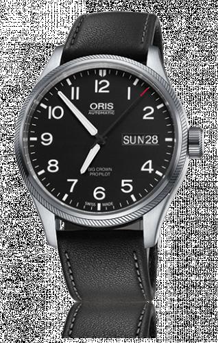 Oris 01 752 7698 4164-07 5 22 19FC : Big Crown ProPilot Day Date Black / Black Leather