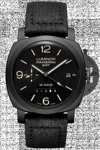 Panerai PAM00335 : Luminor 1950 44 10 Days GMT Ceramic / Black