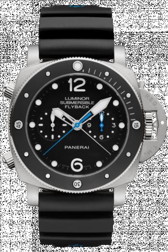 Panerai PAM00615 : Luminor Submersible 47 3 Days Chrono Flyback Automatic Titanium / Ceramic / Black
