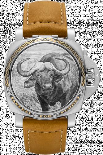 Panerai PAM00855 : Luminor 1950 3 Days Automatic Acciaio Sealand for Purdey Buffalo