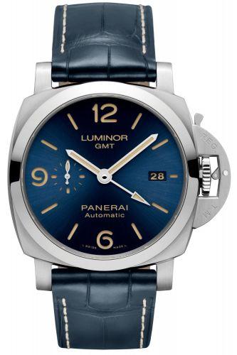 Panerai PAM01033 : Luminor 1950 44 3 Days GMT Automatic Stainless Steel / Blue