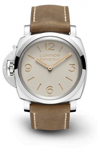 PAM01075 : Panerai Luminor 1950 Left-Handed 47 3 Days Stainless Steel / Beige