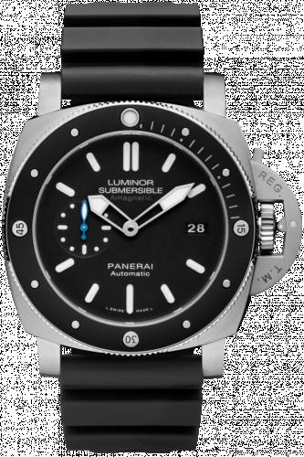 Panerai PAM01389 : Luminor Submersible 47 Amagnetic 3 Days Automatic Titanium / Black