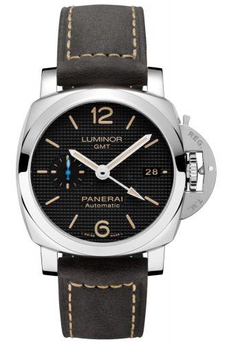 Panerai PAM01535 : Luminor 1950 42 3 Days GMT Automatic Stainless Steel / Black Hobnail