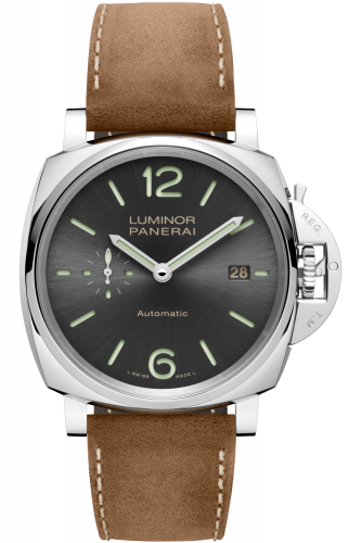 Panerai PAM00904 : Luminor Due 42 3 Days Date Stainless Steel / Grey