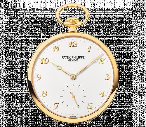 973J-001 : Patek Philippe Pocket Watch Lepine Yellow Gold / White