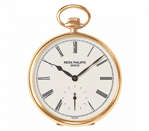 973J-010 : Patek Philippe Pocket Watch Lepine Yellow Gold / White