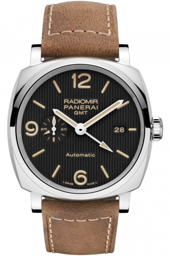 Panerai PAM00657 : Radiomir 1940 45 3 Days GMT Automatic Stainless Steel / Black -Tuxedo