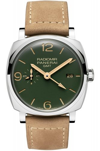 Panerai PAM00998 : Radiomir 1940 45 3 Days GMT Automatic Stainless Steel / Military Green