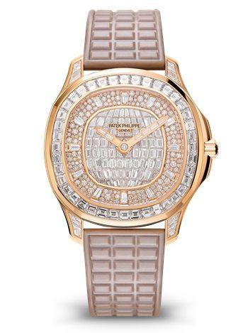 Patek Philippe 5062/450R-001 : Patek Philippe Aquanut Luce Haute Joaillerie Rose Gold / Diamond