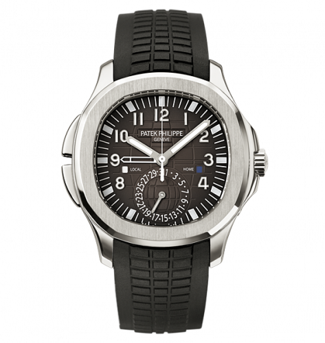 5164A-001 : Patek Philippe Aquanaut Travel Time 5164 Stainless Steel / Black