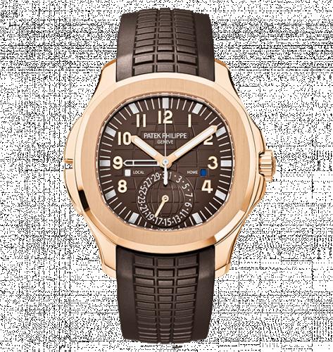 Patek Philippe 5164R-001 : Aquanaut Travel Time 5164 Rose Gold / Brown