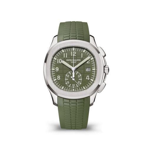 Patek Philippe 5968G-010 : Aquanaut Chronograph 5968 White Gold / Green / Rubber