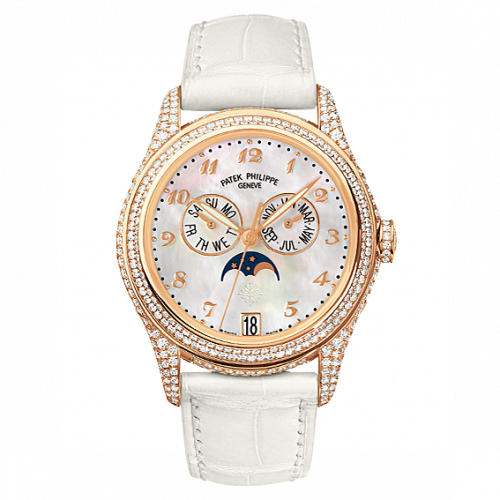 4937R-001 : Patek Philippe Annual Calendar 4937 Rose Gold Diamond White Mother of Pearl