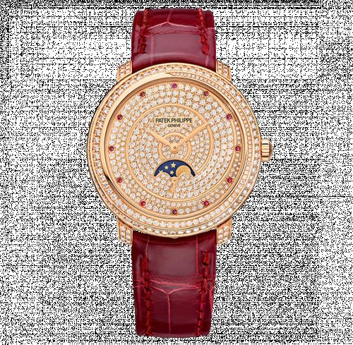 4968/400R-001 : Patek Philippe Moonphase 4968 Rose Gold / Diamond Spiral