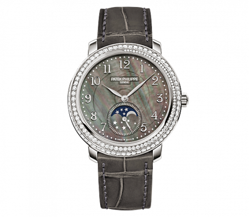 4968G-001 : Patek Philippe Moonphase 4968 White Gold Black Mother of Pearl