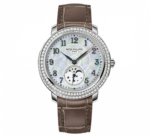 4968G-010 : Patek Philippe Moonphase 4968 White Gold / White Mother of Pearl