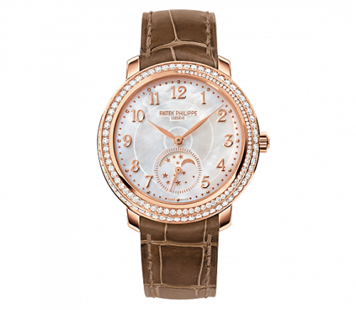 4968R-001 : Patek Philippe Moonphase 4968 Rose Gold / White Mother of Pearl