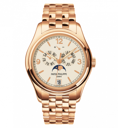 5146/1R-001  : Patek Philippe Annual Calendar 5146 Rose Gold / Cream / Bracelet