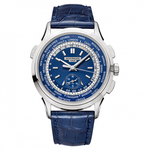 5930G-001 : Patek Philippe World Time Chronograph 5930 White Gold / Blue / Hong Kong