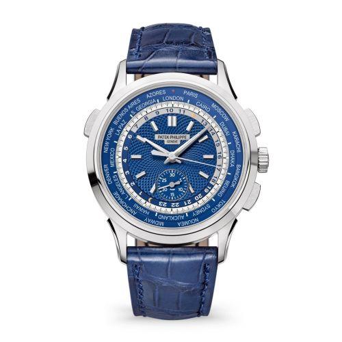 5930G-010 : Patek Philippe World Time Chronograph 5930 White Gold / Blue / Beijing