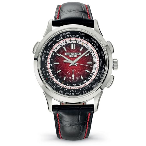 5930G-011 : Patek Philippe World Time Chronograph 5930 White Gold / Red / Singapore 2019