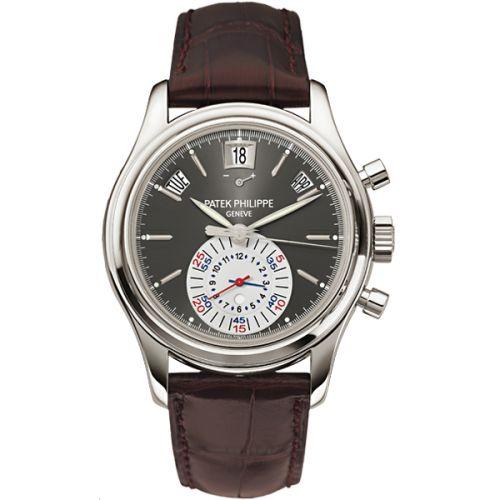 Patek Philippe 5960P-001 : Annual Calendar Chronograph 5960 Platinum / Grey