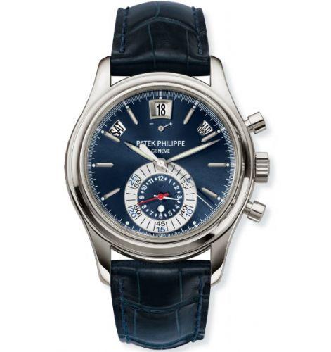 Patek Philippe 5960P-015 : Annual Calendar Chronograph 5960 Platinum / Blue