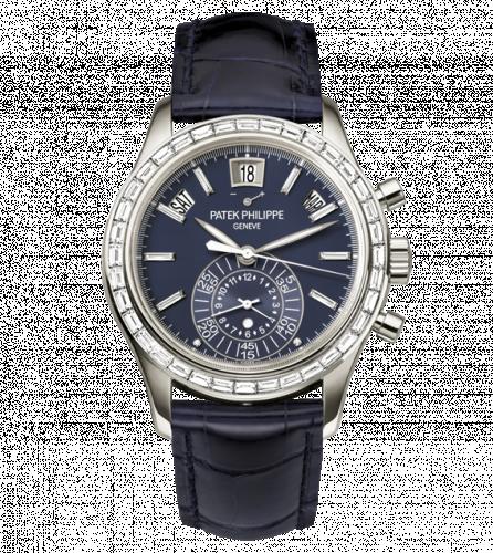 5961P-001 : Patek Philippe Annual Calendar Chronograph 5961 Platinum / Blue