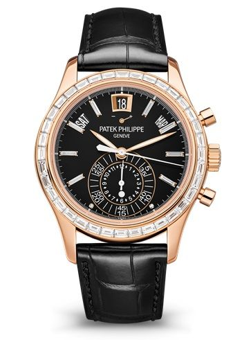 5961R-010 : Patek Philippe Annual Calendar Chronograph 5961 Rose Gold / Black