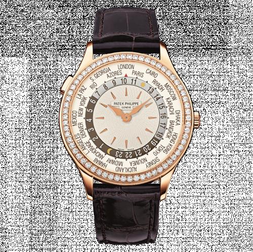 7130R-001 : Patek Philippe World Time 7130 Rose Gold / Silver / Hong Kong