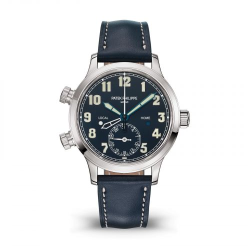 7234G-001 : Patek Philippe Calatrava Pilot Travel Time 7234 White Gold / Blue