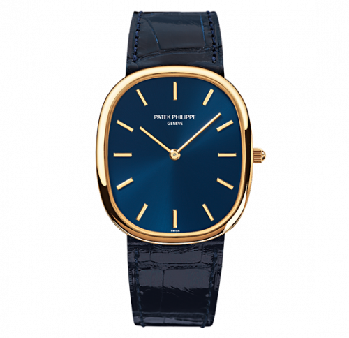 Patek Philippe 3738/100J-012 : Golden Ellipse 3738 Yellow Gold / Blue