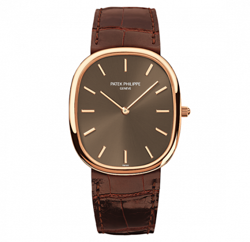 3738/100R-001 : Patek Philippe Golden Ellipse 3738 Rose Gold / Brown