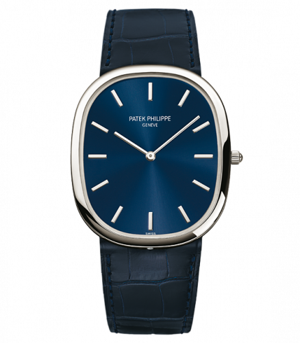 Patek Philippe 5738P-001 : Golden Ellipse 5738 Platinum / Blue