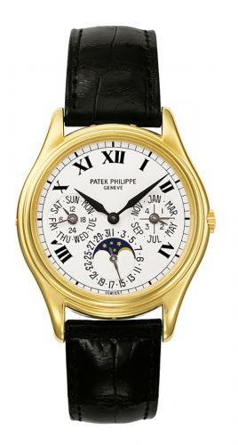 3940J-025 : Patek Philippe Perpetual Calendar 3940 Yellow Gold / Painted Roman