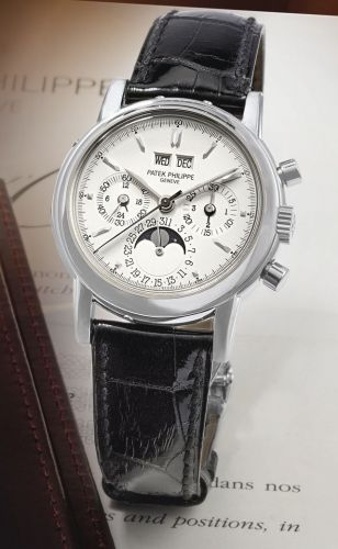 3970EG-016 : Patek Philippe Perpetual Calendar Chronograph 3970 White Gold / Silver