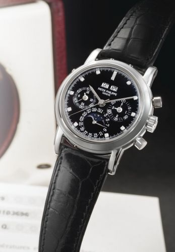 3970EP-029 : Patek Philippe Perpetual Calendar Chronograph 3970 Platinum / Black Diamond