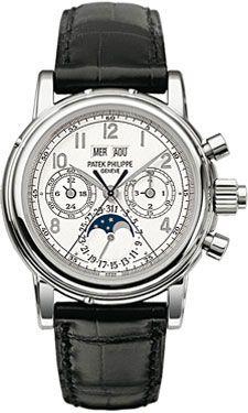 Patek Philippe 5004G-013 : Perpetual Calendar Split Seconds Chronograph 5004 White Gold / White Arabic