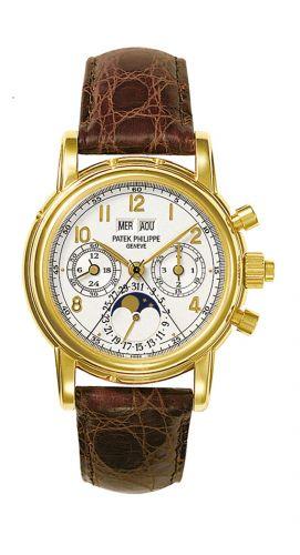 5004J-012 : Patek Philippe Perpetual Calendar Split Seconds Chronograph 5004 Yellow Gold