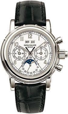 Patek Philippe 5004P-021 : Perpetual Calendar Split Seconds Chronograph 5004 Platinum / White Arabic