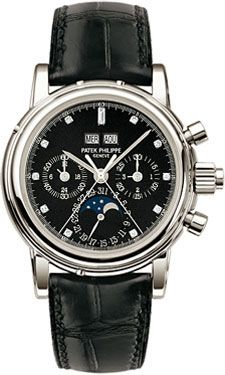 Patek Philippe 5004P-033 : Perpetual Calendar Split Seconds Chronograph 5004 Platinum / Black Diamond