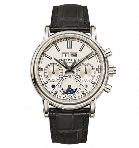 5204P-001 : Patek Philippe Perpetual Calendar Split-Seconds  Chronograph 5204 Platinum / Silver