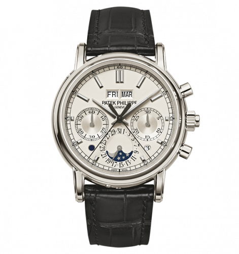 5204P-010 : Patek Philippe Perpetual Calendar Split-Seconds Chronograph 5204 Platinum / Silver