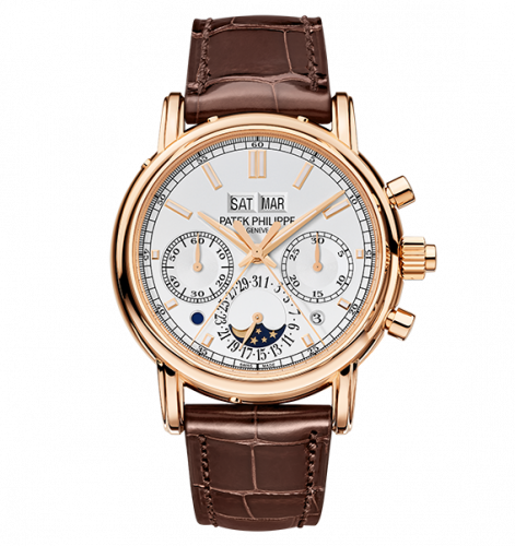 5204R-001 : Patek Philippe Perpetual Calendar Split-Seconds Chronograph 5204 Rose Gold / Silver