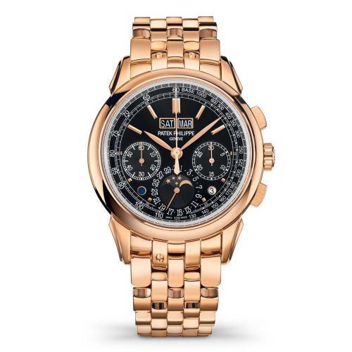 Patek Philippe 5270/1R-001 : Perpetual Calendar Chronograph 5270 Rose Gold / Black / Bracelet