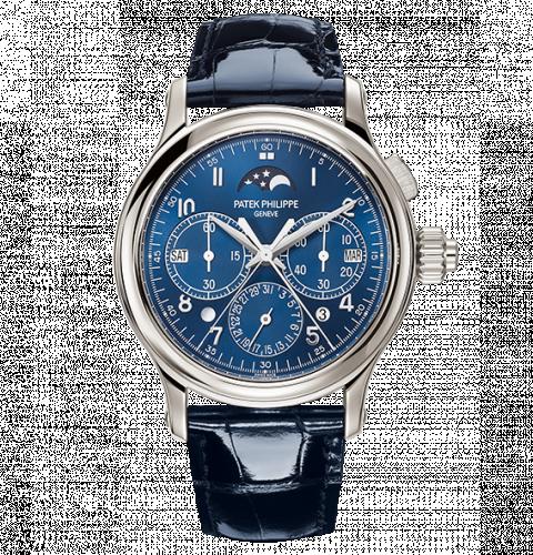 5372P-001 : Patek Philippe Perpetual Calendar Split-Seconds Chronograph 5372 Platinum / Blue